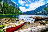 Coquihalla Summit, British Columbia, Canada - Sept 1, 2018: Fishing In The High Alpine In Falls Lake poster