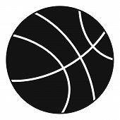 Basketball Ball Icon. Simple Illustration Of Basketball Ball Icon For Web poster