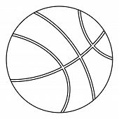 Basketball Icon. Outline Illustration Of Basketball Icon For Web poster