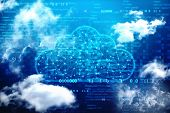 Cloud Computing, Cloud Computing Concept, Cloud Network In Abstract Technology Background. Cloud Net poster