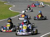 picture of karts  - the start of a go kart race - JPG