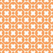 Vector Geometric Seamless Pattern. Stylish Modern Colorful Texture With Round Shapes, Crosses, Circl poster