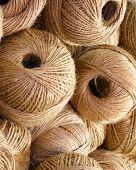 Balls Of Rough And Rough Twine For Sale In The Haberdashery Shop poster