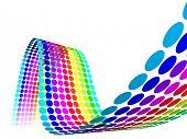 Постер, плакат: 3D цвет точки волны