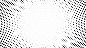 Halftone Dotted Background. Halftone Effect Vector Pattern. Circle Dots Isolated On The White Backgr poster