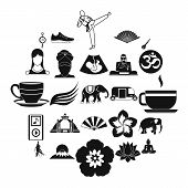 Japanese Culture Icons Set. Simple Set Of 25 Japanese Culture Vector Icons For Web Isolated On White poster