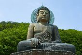 Giant statue of Buddha in the Sinheungsa Temple in Seoraksan National Park, South korea