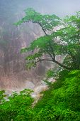 picture of seoraksan  - Waterfall foggy mountain view at Seoraksan National Park - JPG