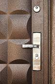 image of front door  - metallic door background - JPG