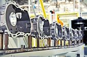 picture of work bench  - manufacturing parts for car engine - JPG