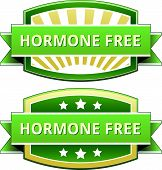 stock photo of hormones  - Hormone free food label - JPG