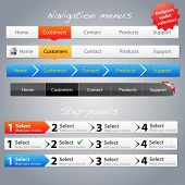 Web designers toolkit - Navigation menus and step panels