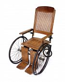 pic of antique wheelchair  - classic high - JPG