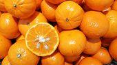 Fresh Oranges, Oranges Background, Bunch Of Fresh Organic Oranges. Big Bunch Of Ripe Tangerines. poster