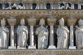 Architectural Details Of Facade Of Notre Dame De Paris (built In 1163-1345 Years), Paris, France poster
