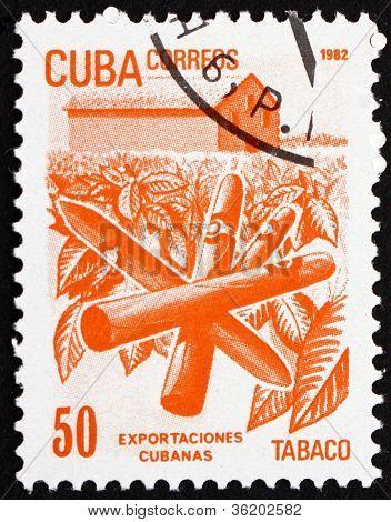 Postage stamp Cuba 1982 Tobacco, Cuban Export