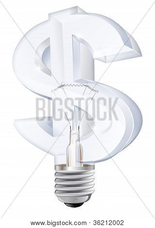 Dollar Light Bulb Concept