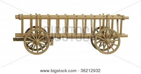 Nostalgic Hay Wagon Model