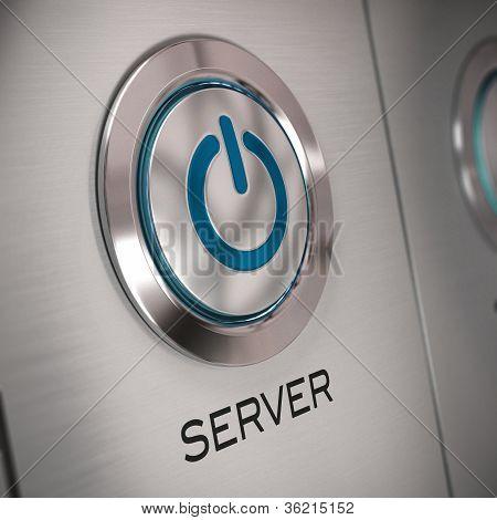 botón de servidor