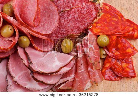 Arrangement Of Meat Delicatessen