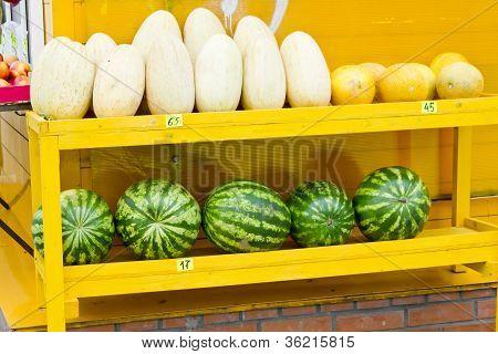 Melon And Watermelon Street Market
