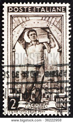 Postage stamp Italy 1950 Mason, Lombardia