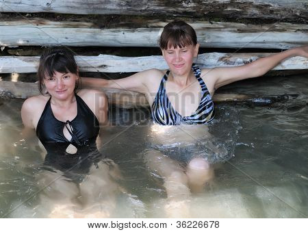 Two Girls Take A Bath Mineral