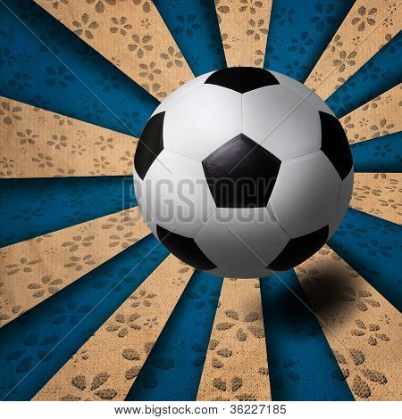 soccer football on ray background
