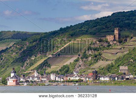 Rhine Valley At The City Of Kaub