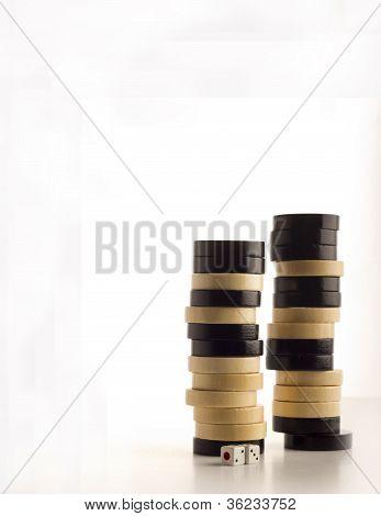 Backgammon chips