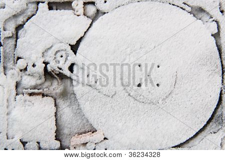 Data (hard Drive In The Snow)