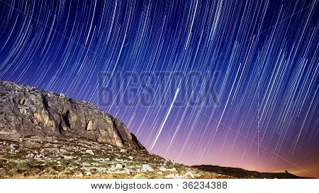 Star Trails Over Lapsi Cliffs