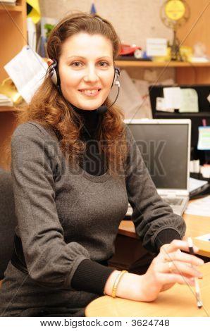 Mujer de negocios sonriendo