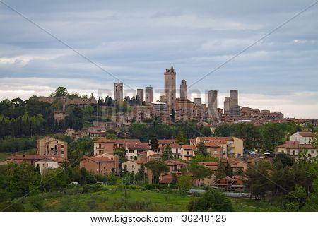 Skyline of Gimignano, Tuscany, Italy