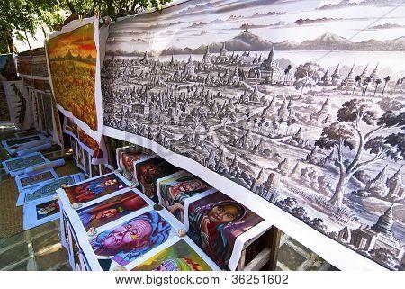 Sand Painting In Myanmar