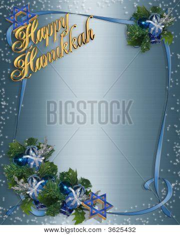 Hanukkah Background Blue Sparkle