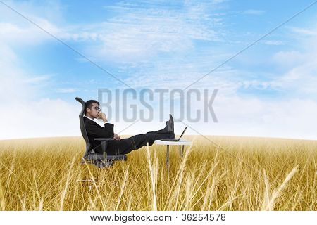 Thoughtful Businessman At Outdoor Office