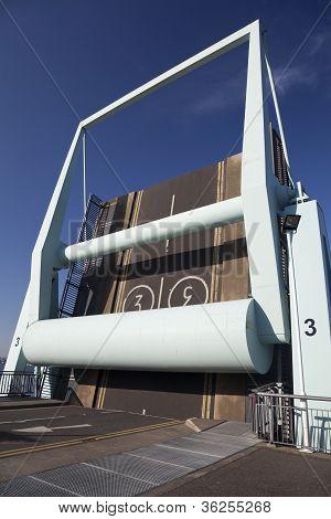Bascule Bridge, Cardiff Bay Barrage