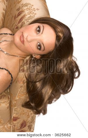 Young Attractive Egyptian Arabian Woman Wearing Wig