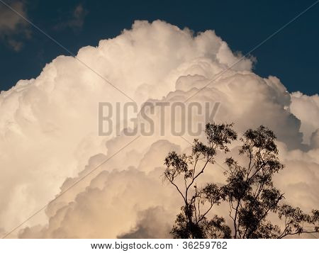 Cumulus thunderstorm clouds Cumulonimbus