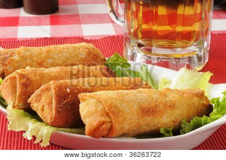 Egg Rolls And Beer