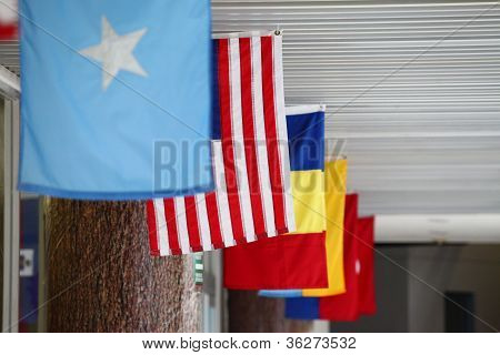 Flags of USA and the world, pendants