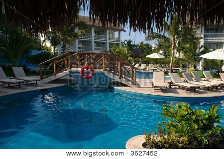 Pool Scene At Cozumel Resort