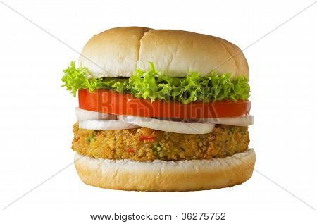 Veggie Burger Isolated