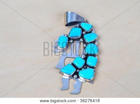 Turquoise Kokopelli Pendant