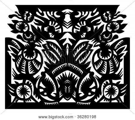 black pattern in frame