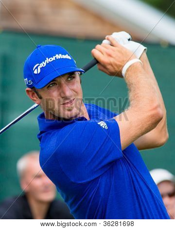 Dustin Johnson At The 2012 Barclays