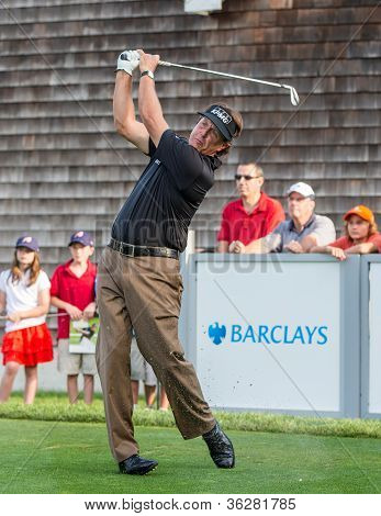 Phil Mickelson At The 2012 Barclays