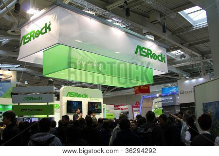 Hannover - March 10: Stand Of Asrock On March 10, 2012 At Cebi