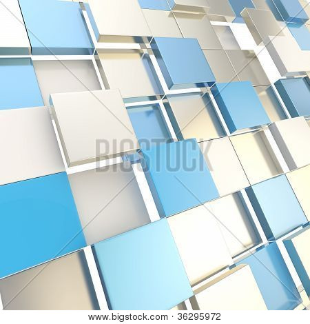 Abstract Cube Background Techno Wallpaper